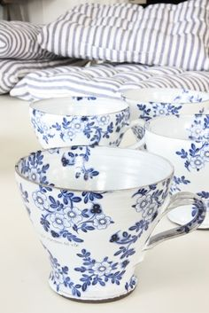 Blue & White dishes and ticking
