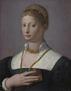 Portrait of a Woman Agnolo Bronzino (Italian, 1503-1572). Cleveland Art Museum, via Flickr.