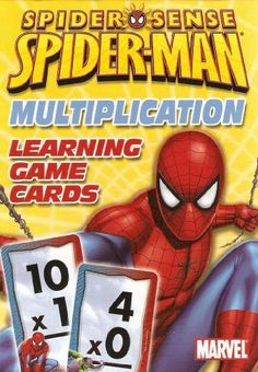 Marvel Spider-Man Multiplication Learning/Flash Cards by Marvel. $0.95. These flash cards teach children multiplication facts from zero to eleven, and includes cards introducing twelve.  Each card has the answer on the opposite side in the bottom right corner.  these flash cards make learning multiplication facts fun with Spider-Man.