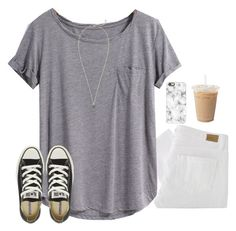 day 2- last day of school!! by serenag123 on Polyvore featuring Paige Denim, Converse, Kendra Scott, Casetify and schoolsoutmadiandashe