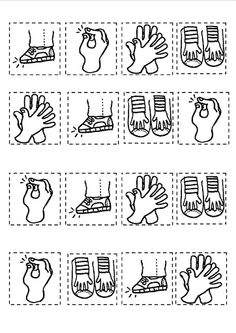 Body percussion cards - great composition idea! Could also incorporate rests or have eighth notes represented by two small pictures on one card.