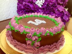Russian piping nozzle birthday chocolate buttercream cake  by Arte, amor y sabor