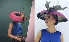 Hat by Louise MacDonald, Julie Goodwin Couture silk blouse in cobalt Fascinators, Headpieces, Race Wear, Spring Racing, Frocks, Cobalt, Headbands, Couture, Silk