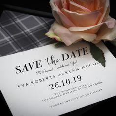 Stationery Design, Wedding Stationery, Wedding Invitations, Tartan Wedding, Bespoke Design, One Design, Glasgow, Save The Date, Thank You Cards