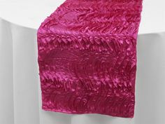 Fuchsia Pink Beverly Hills Waves Table Runner