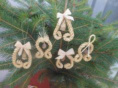 Szalma karácsonyfadísz, Karácsonyi, adventi apróságok, Karácsonyfadísz, Meska