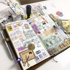Last week tn. Sometimes we had boring to stickers and washi tapes... try sketches . #craftmates #craftmatesmalaysia #tn #lastweek #midoritravelersnotebook #ladorcevit #artjournal