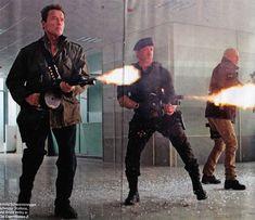 Arnold Schwarzenegger, Sylvester Stallone and Bruce Willis [EX2]