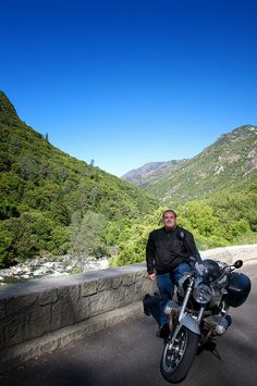 BMW R1200R and Gino with a true motorcycle smile on. - Gino Marotta