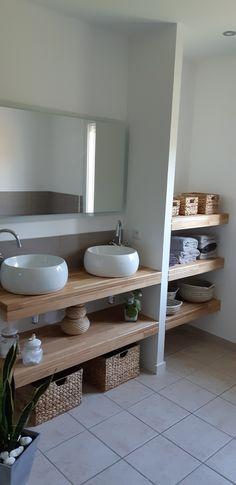 Super Home Bathroom Shower Vanities Ideas Wood Bathroom, Bathroom Interior, Modern Bathroom, Small Bathroom, Ensuite Bathrooms, Design Bathroom, Diy Bathroom Remodel, Bathroom Remodeling, Remodeling Ideas