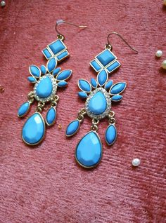Fashionara Fancy {http://on.fb.me/1vIikNb}  Add contrast to your Silver Dress with OOMPH's Sky Blue Danglers...  To Shop -- http://bit.ly/1u7bjsM  ‪#‎oomphmumbai‬ ‪#‎shopmumbai‬