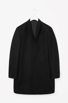 COS image 1 of Wool coat in Black Latest Clothes For Men, Tailored Coat, Girl Fashion, Fashion Outfits, Wool Coat, Timeless Fashion, Parka, Raincoat, Blazer