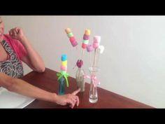 Como hacer banderillas de bombones pintados y azucarados - YouTube