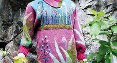 Knit art by Finnish artist Sirkka Könönen Knitting Designs, Knitting Projects, Knitting Patterns, Tricot D'art, Handgestrickte Pullover, Knit Art, Hand Knitted Sweaters, Cardigans For Women, Hand Knitting