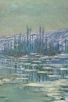 Ice Floes on the Seine (1880), Claude Monet