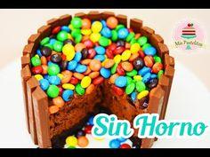 TARTA DE CHOCOLATE SIN HORNO Y SIN GRENETINA   MIS PASTELITOS - YouTube