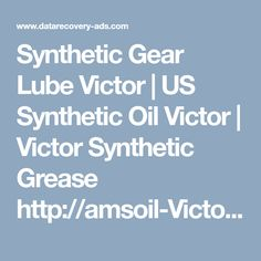 Victor Victor, Synthetic Grease, Gears, Oil, Gear Train, Butter