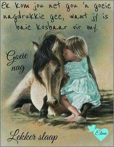 Children and Horses Art Prints Good Night Wishes, Good Night Quotes, Good Morning Good Night, Horse Canvas Painting, Good Night Sleep Tight, Evening Greetings, Afrikaanse Quotes, Goeie Nag, Im Grateful