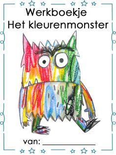 Werkboekje: Thema Het kleurenmonster  - Voorkant Social Emotional Learning, Monster, New Job, Toddler Activities, Coaching, Disney Characters, Fictional Characters, Preschool, Religion
