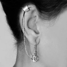 925 Sterling Silver Anchor Ear Cuff Wrap Earring WE95. $16.99, via Etsy.