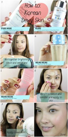 How to: Korean Dewy Skin Base Foundation Tutorial ♥ 촉촉 메이크업 메이크업 - The Beauty Breakdown