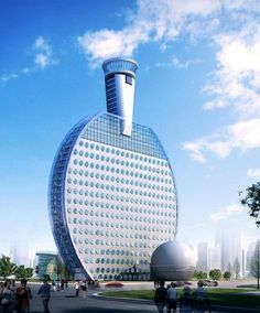 The Main Building Of Huainan Olympic Park In Anhui Province Another Odd