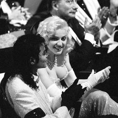 King and Queen of Pop at the 1991 Academy Awards where Madonna performed Sooner or Later from Dick Tracy.