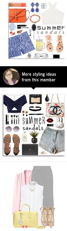 """Summer Sandals Contest Entry"" by jafashions on Polyvore featuring Ancient Greek Sandals, BCBGMAXAZRIA, J.Crew, L.K.Bennett, Yves Saint Laurent, OSCAR Bijoux, Miss Selfridge, Marc Jacobs, GlamGlow and New Look"