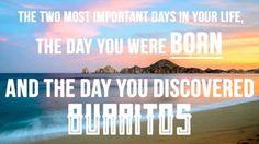 How did live before burritos? Evening Espresso Photos: #theBERRY #funnypics #burritos #love