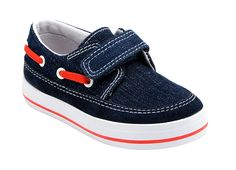 Ahoy - Canvas Shoes for Little Boys. These riptape fastening denim canvas shoes for boys are light, comfortable and breathable. Perfect for summer and machine washable.