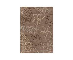 Alfombra artesanal Floriade Mood, marrón y beige - 90x160 cm