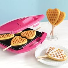 Heart Waffle Maker  Show your loved ones how much you care by making them heart-shaped waffles in the morning! Perfect for Valentine's Day! Reserve yours today. Orders begin shipping end of January.