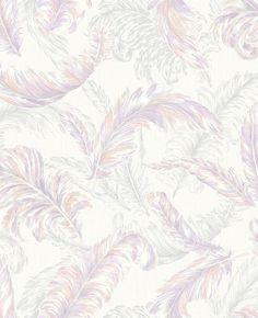 Gilded Feather Pink / Lilac | Graham and Brown