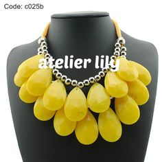 Chunky tear drop acrylic necklace party short by AtelierLily, $9.99 (purchase with purchase)