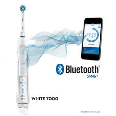 Oral-B White 7000 SmartSeries Electric Rechargeable Toothbrush with Blue...