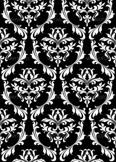 Damask seamless pattern with decorative floral elements. Editable EPS8 and JPEG (can edit in any vector and graphic editor) files