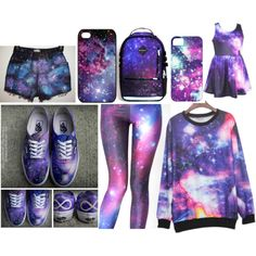 MOM!! I am in love with galaxy clothes. I want the shirt, shorts, tights, phone case, shoes, and dress.