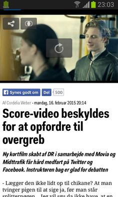 Score-video beskyldes for at opfordre til overgreb - http://www.mx.dk/nyheder/danmark/story/24057225?redirect=mobi&nocache=0.9170791841958926