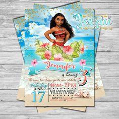 Moana Birthday Invitation | Princess Moana Birthday | Disney Moana | Disney | Moana Birthday | Moana Party by JexzaiCC on Etsy https://www.etsy.com/listing/512356548/moana-birthday-invitation-princess-moana