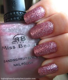Exactly how many pink glitter nails can I pin?  How much time do you have?