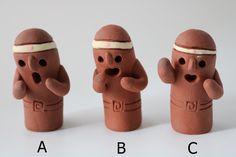 はにわ「はにおかしゅうぞう」A,B,C|置物|はにわ堂|ハンドメイド通販・販売のCreema