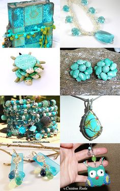 FRESH AND FABULOUS IN AQUA by Vickie Wade on Etsy--Pinned with TreasuryPin.com