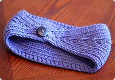 Purple Knitted Ear Warmer
