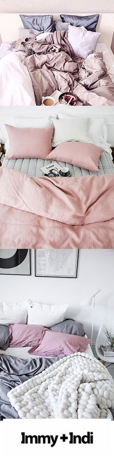 Pink Bedroom Decor Inspiration with Pantone colour of the year Rose Quartz | Immy and Indi
