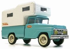 Tonka Pick-Up Truck with Camper, 1960's. I had this.