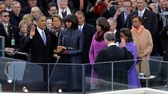 PHOTO: President Barack Obama receives the oath of office from Chief Justice John Roberts as first lady Michelle Obamas and his daughters Malia and Sasha look on at the ceremonial swearing-in at the U.S. Capitol during the 57th Presidential Inauguration i - ABC News