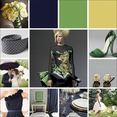 Color Palette_Midnight Blue Kelly Green Straw Yellow_wedding color palette