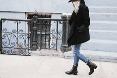 figtny.com | outfit • 20 Aritzia Mackage jacket / destroyed denim | Alexander Wang boots