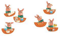 Inna Chernyak Illustration - inna, chernyak, inna chernyak, painted, digital, acrylic, trade, commercial, picturebook, young reader, YA, animal, pig, piggy, making, crown, hobby, cute, sweet, glue, colour, draw