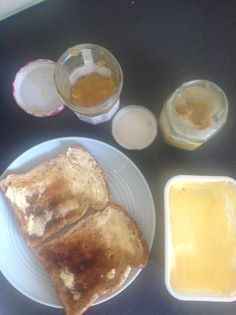 Iamabzzagent toast with flora buttery and honey and marmalade - toast is great with just the flora buttery to be honest - mmmmmmm Marmalade, French Toast, Flora, Honey, Breakfast, Morning Coffee, Plants